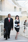 Diverse Business Man and Woman Team Stock Photos