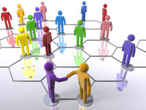 Diverse business network model Stock Photo