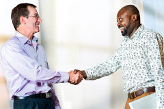 Diverse Business partners shaking hands. Royalty Free Stock Image