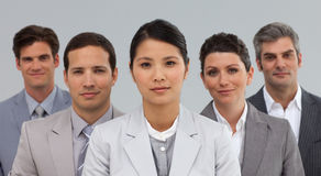 Diverse Business partners standing in a line Royalty Free Stock Photography