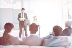 A diverse business people at a conference Royalty Free Stock Image