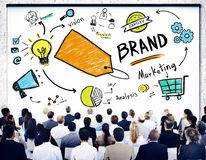 Diverse Business People Conference Seminar Brand Concept Stock Image