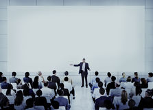 Diverse Business People Conference Speaker Concept Stock Photos