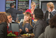 Diverse Business People Eating Royalty Free Stock Image