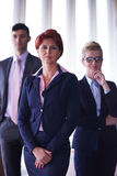 Diverse business people group with redhair  woman in front Stock Photo