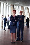 Diverse business people group with redhair  woman in front Stock Image