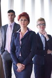 Diverse business people group with redhair  woman in front Royalty Free Stock Images
