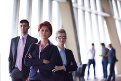 Diverse business people group with redhair  woman in front Royalty Free Stock Photography