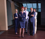 Diverse business people group with redhair  woman in front Royalty Free Stock Image