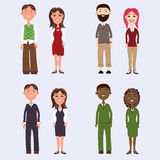 diverse business people isolated on white background. vector illustration