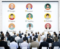 Diverse Business People Learning About Occupations stock photo