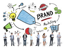 Diverse Business People Marketing Brand Concept Royalty Free Stock Photo