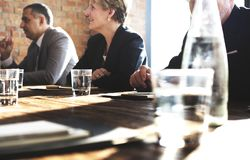 Diverse business people meeting table stock photography