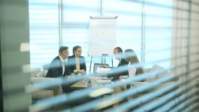 Diverse Business People on a Meeting stock video footage