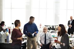 Diverse business people talking ideas stock photos
