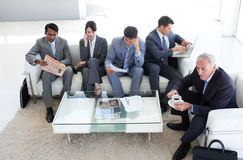 A diverse business people in a waiting room Royalty Free Stock Photo