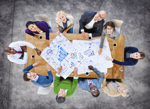 Diverse Business People Working in a Conference Royalty Free Stock Photography