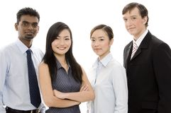 Diverse Business Team 1. A multi-cultural and multi-ethnic business team of men and women Stock Images