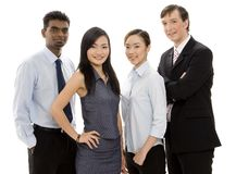 Diverse Business Team 2. A diverse and confident group of young businessmen and women Royalty Free Stock Photo