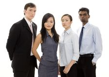 Diverse Business Team 3. A serious-looking group of young individuals make a formidable business team Royalty Free Stock Image