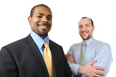 Diverse business team. Team of two diverse business people isolated over white Stock Photography