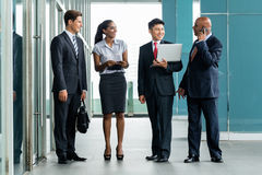 Diverse Business Team in Asia at office building Stock Image