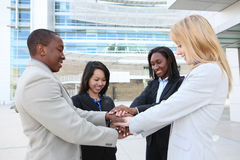 Diverse Business Team Celebrating Stock Image
