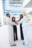Diverse Business Team Celebrating Royalty Free Stock Images