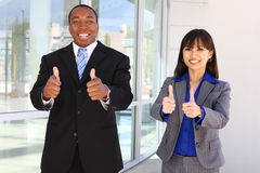 Diverse Business Team Celebrating Success Stock Image