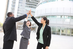 Diverse Business Team Celebrating Success Royalty Free Stock Photos