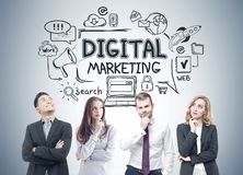Diverse business team, digital marketing Stock Photography