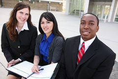 Diverse Business Team (Focus on Middle Woman) royalty free stock images