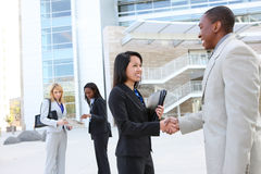 Diverse Business Team Handshake Royalty Free Stock Photo