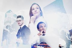 Diverse business team, international company stock image