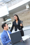 Diverse Business Team on Laptop Royalty Free Stock Photography