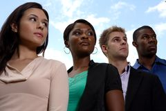 Diverse business team looking Royalty Free Stock Photo