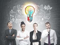 Diverse business team members, business idea Royalty Free Stock Photography