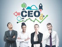 Diverse business team members, CEO Royalty Free Stock Photos