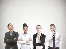 Diverse business team members, concrete Royalty Free Stock Images