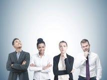 Diverse business team members, gray Stock Image