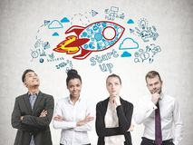 Diverse business team members, start up Stock Illustration