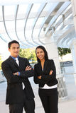 Diverse Business Team at Office Building Stock Photography