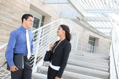Diverse Business Team at Office Building Royalty Free Stock Photography
