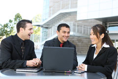 Diverse Business Team at Office Building. An attractive, diverse business team at office building Stock Photos
