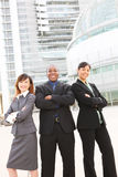 Diverse Business Team at Office Building. An attractive team of diverse business people at company office building Royalty Free Stock Photos