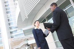 Diverse Business Team at Office Building Stock Photo