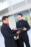 Diverse Business Team at Office Building. An attractive, diverse business team at office building Stock Photography