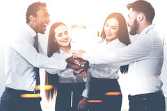 Diverse business team in office Stock Images