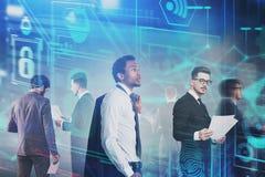 Diverse business team, online security stock photos