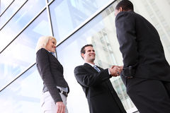 Diverse Business Team Shaking Hands Royalty Free Stock Photography